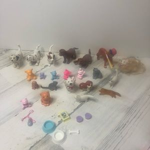 Lot of Doll Barbie Accessories Dogs Cats Pets Dish
